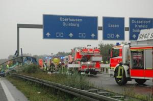 Autobahnunfall. Foto: Polizei Mettmann.