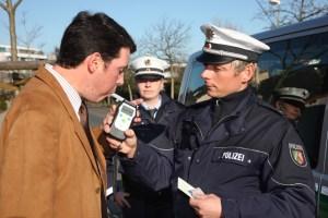 Alkoholtest. Foto: Polizei Kreis Mettmann.