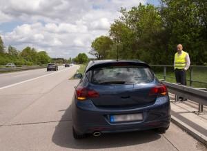 Panne auf der Autobahn. Foto: Ergo Versicherungsgruppe.