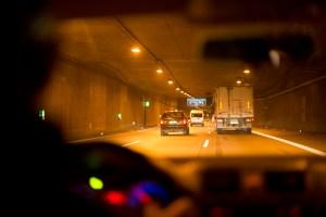 ADAC Tunneltest, Autobahntunnel Allach, Muenchen. Foto: ADAC/Martin Hangen.