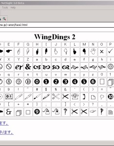 Wingdings chart mailart graphics font dafont com some awesome free also webdings frodo fullring rh