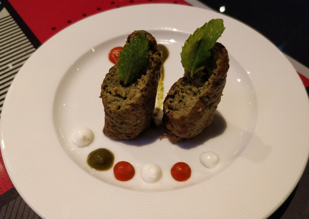 Lebanese Chicken Kebabs at London Taxi in Lower Parel