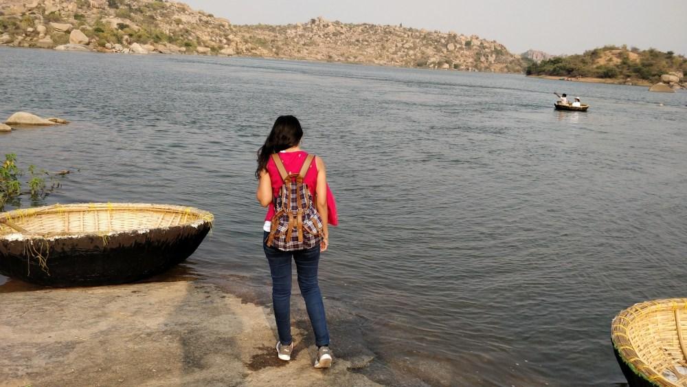 Coracle ride at Sanapur Lake