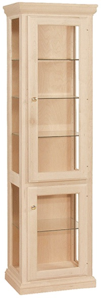 """UNFINISHED TRADITIONAL CURIO CABINET - 21-1/2"""": Unfinished ..."""