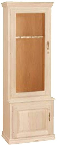 UNFINISHED TRADITIONAL TWO DOOR GUN CABINET (HOLDS 6 GUNS ...