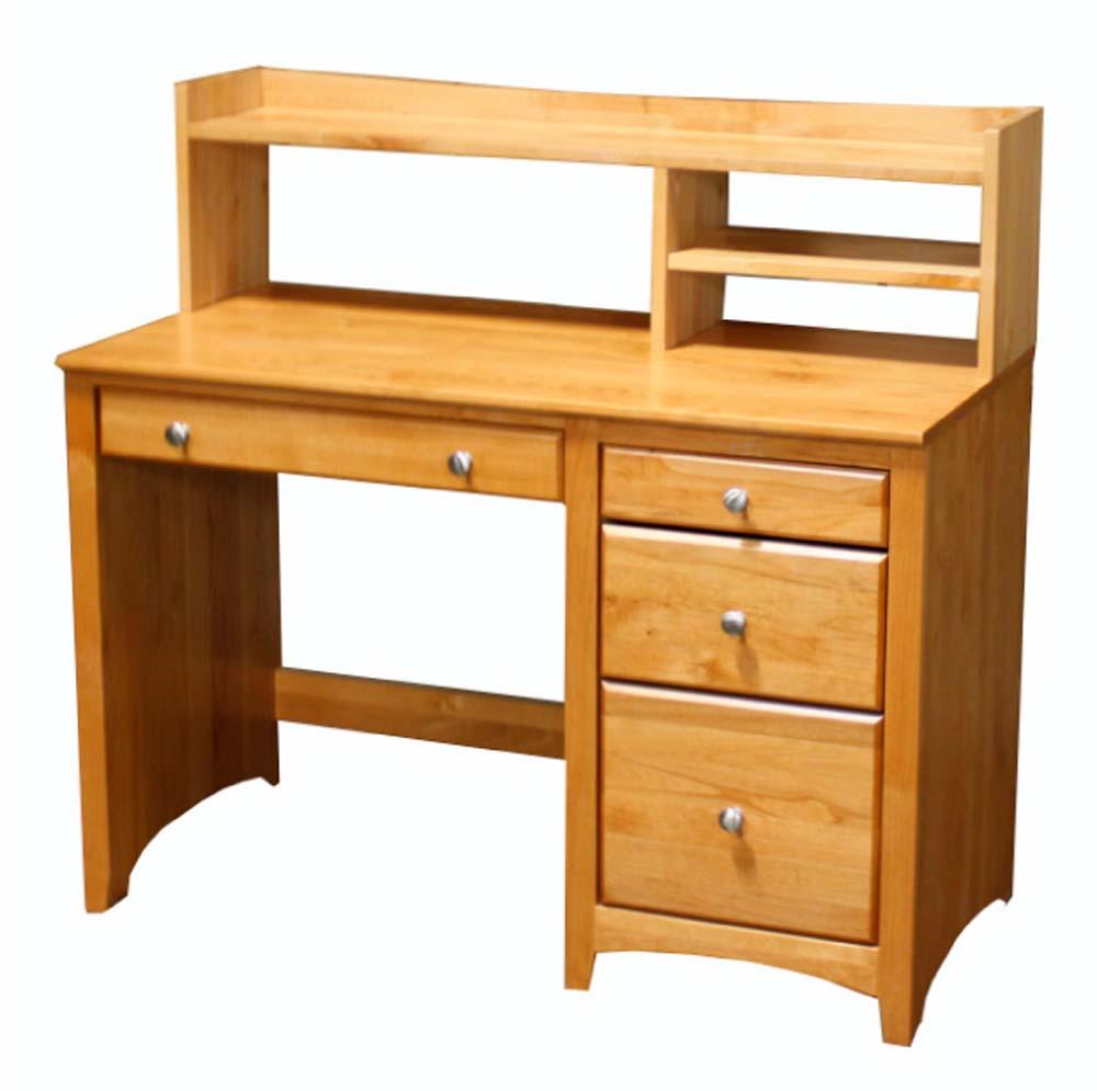 Alder Student Desk Hutch  Unfinished Furniture of Wilmington