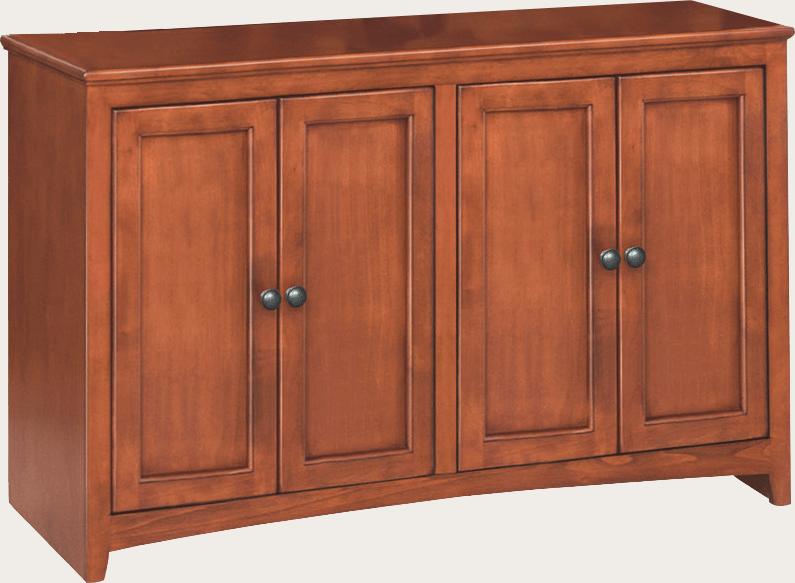 1631 48 inch wide McKenzie Alder Cabinet  Unfinished