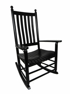 troutman chair company plastic chairs kmart oak 970 lumbar back plantation jumbo rocker unfinished furniture black 400