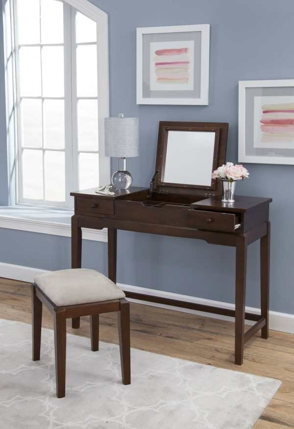 Dt-2 Vanity With Flip Mirror Unfinished Furniture Of