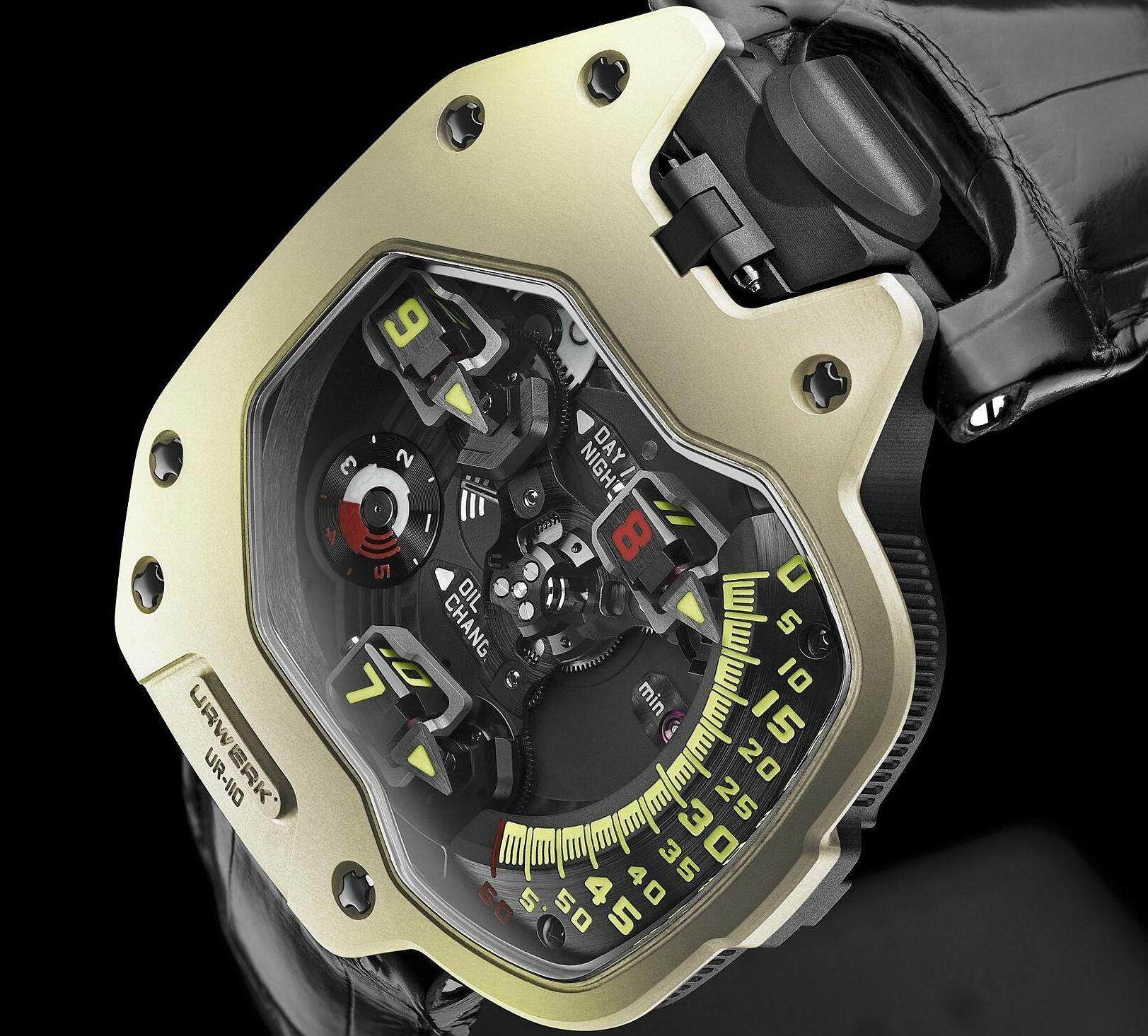 URWERK UR-110 ZrN Torpedo Champagne Supernova Watch - Unfinished ManUnfinished Man