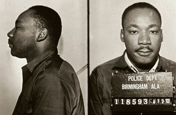 Dr. Martin Luther King, Jr. Mugshot