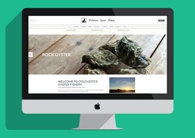 Colchester Oyster Fishery Website - Desktop