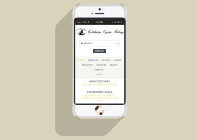 Colchester Oyster Fishery Website - Mobile