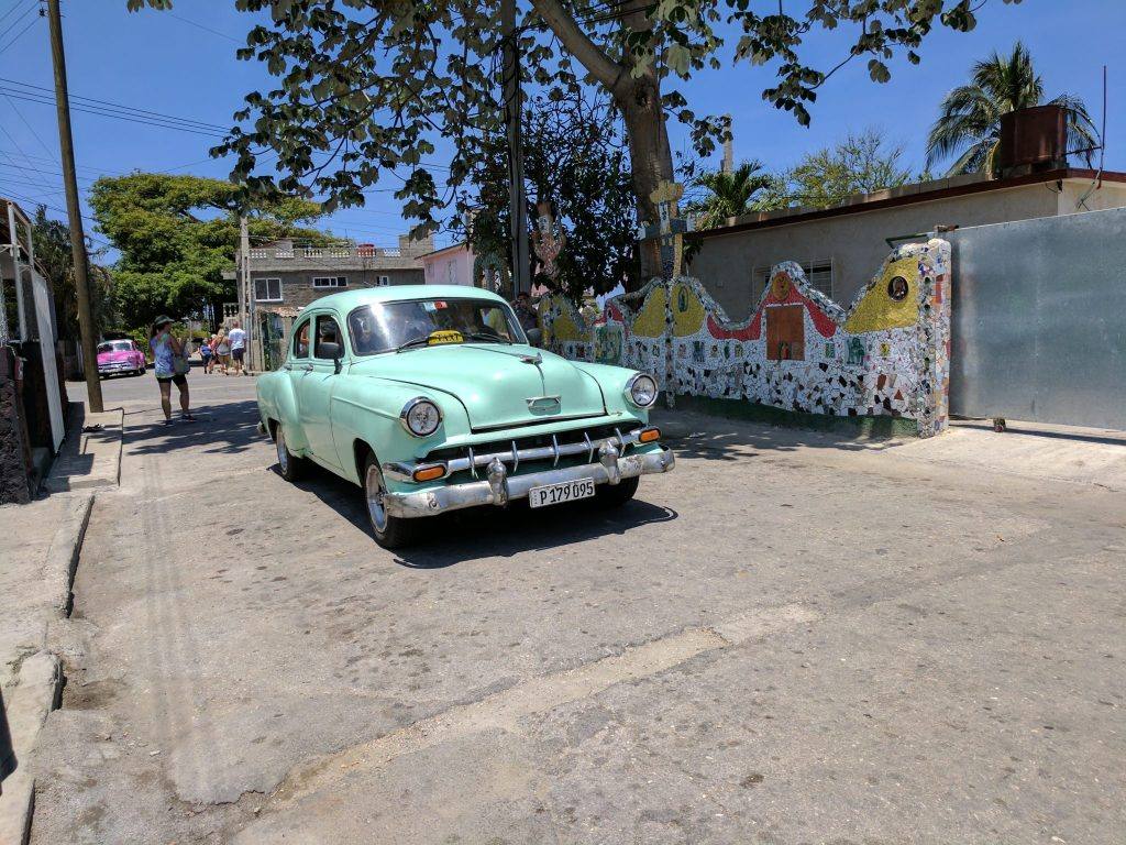 Mint Car in Havana, Cuba on UnfoldAndBegin.com