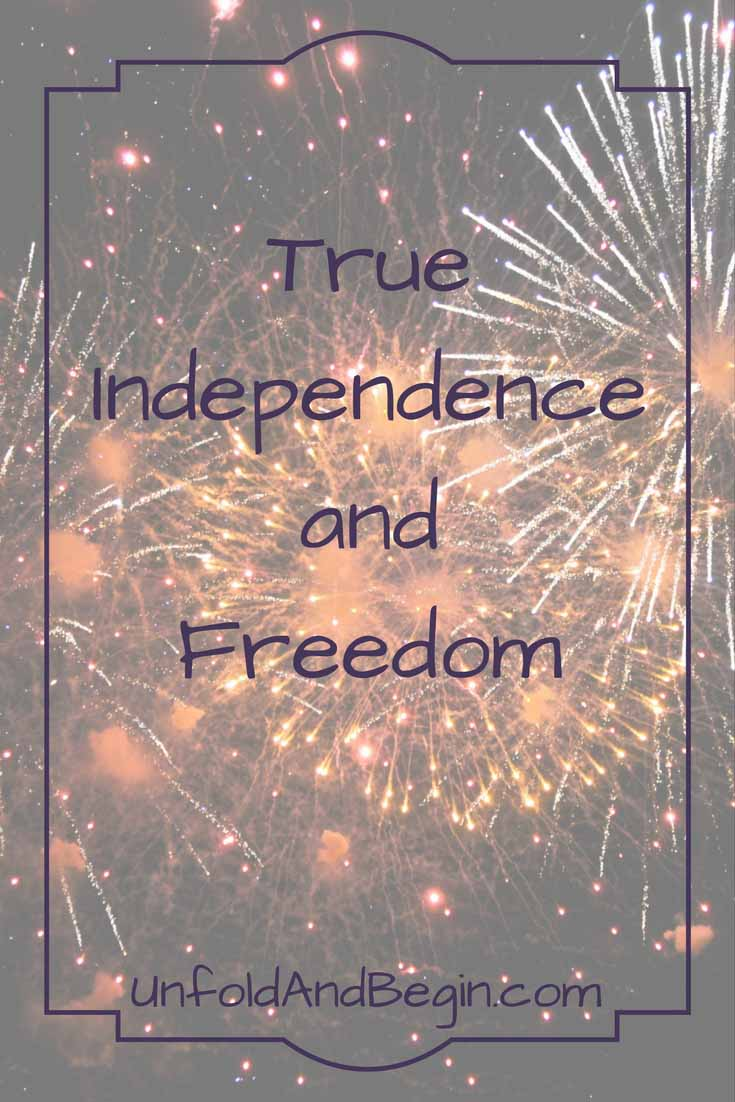 This Fourth of July let's celebrate our true independence and freedom by recognizing our interdependence on each other on UnfoldAndBegin.com