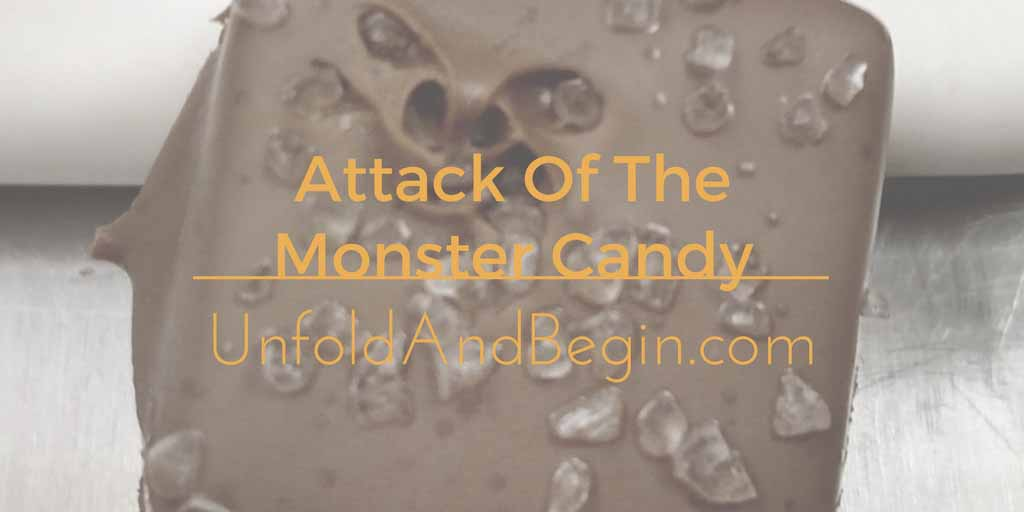 Attack Of The Monster Candy Creativity Prompt