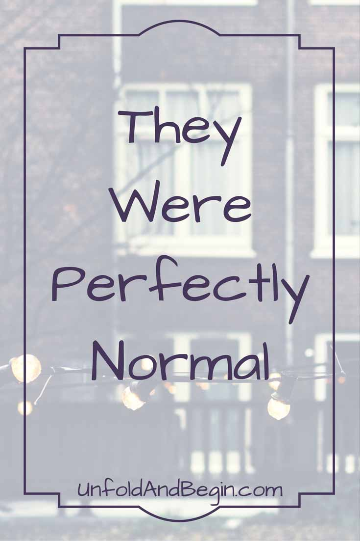 I love pulling creativity prompts straight out of a book.   How many people think they were perfectly normal?