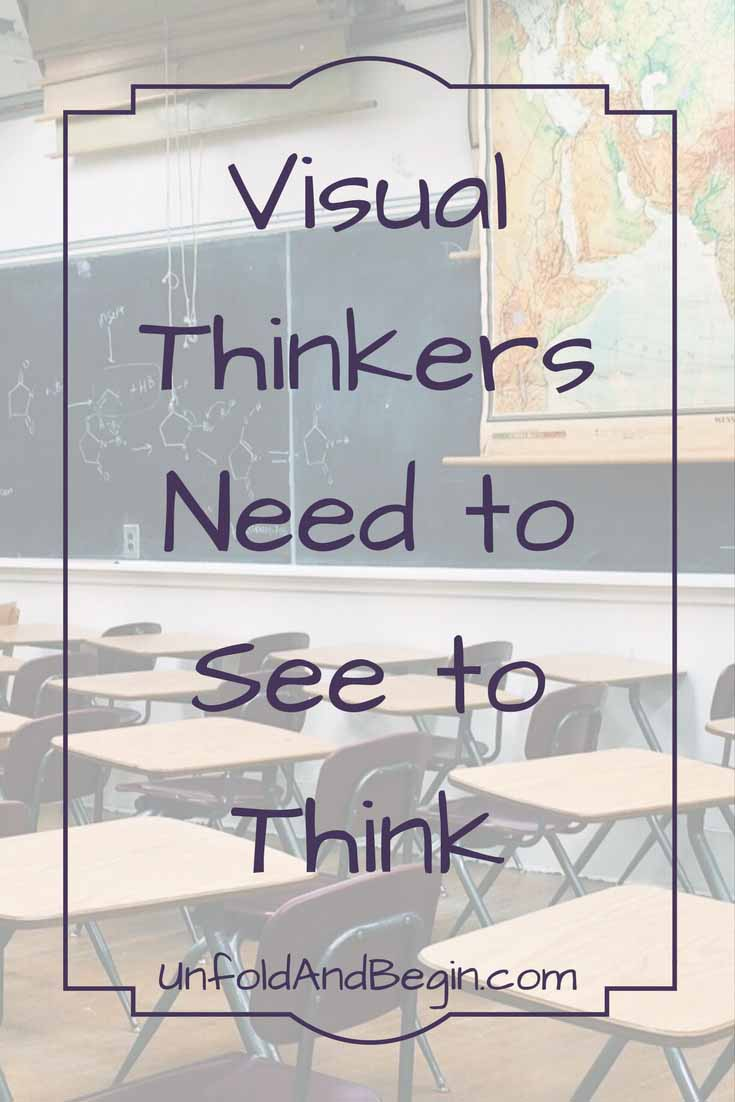 Visual thinkers need to see to think.  If you're a visual learner perhaps a Vision Board will help you realize your goals on UnfoldAndBegin.com