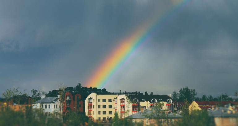 How does the rainbow occur?