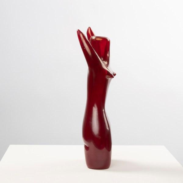 Red blown glass Mermaid by Fulvio Bianconi - img07
