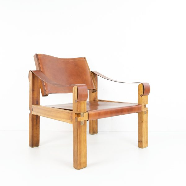 Leather Armchair by Pierre Chapo - img07