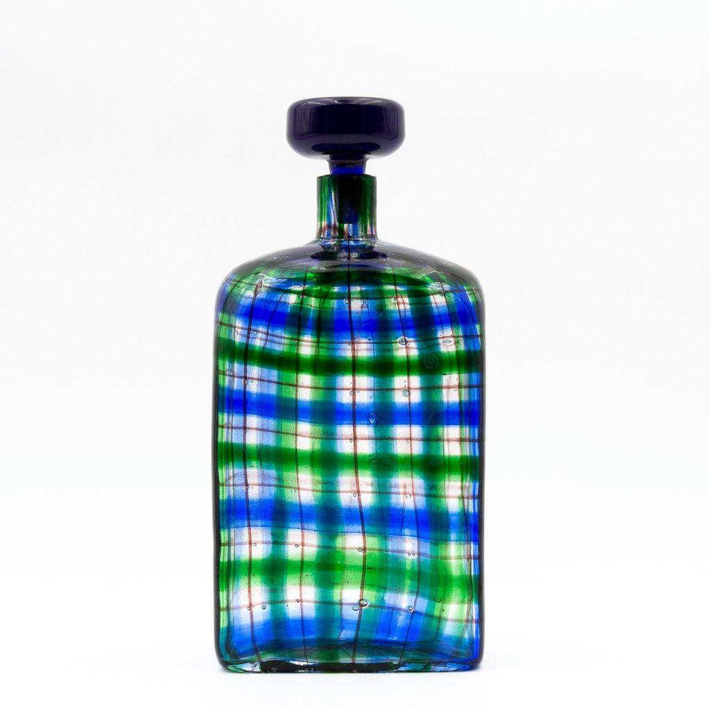 tartan bottle by Ercole Barovier - img01