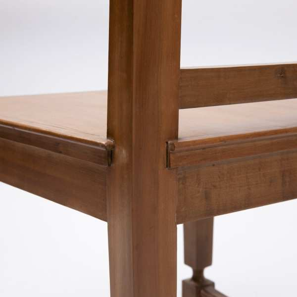 Pair of cherry wood chairs by André Arbus -img06