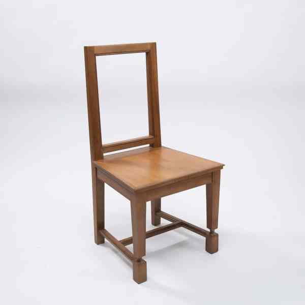 Pair of cherry wood chairs by André Arbus -img02
