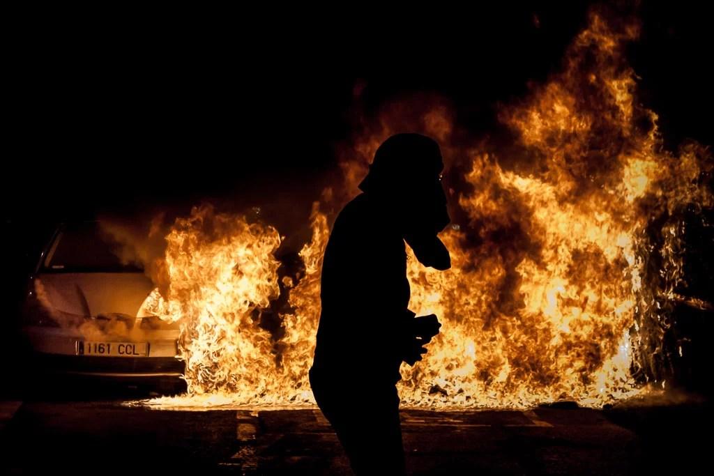 disturbios - barricadas - fuego - Barcelona