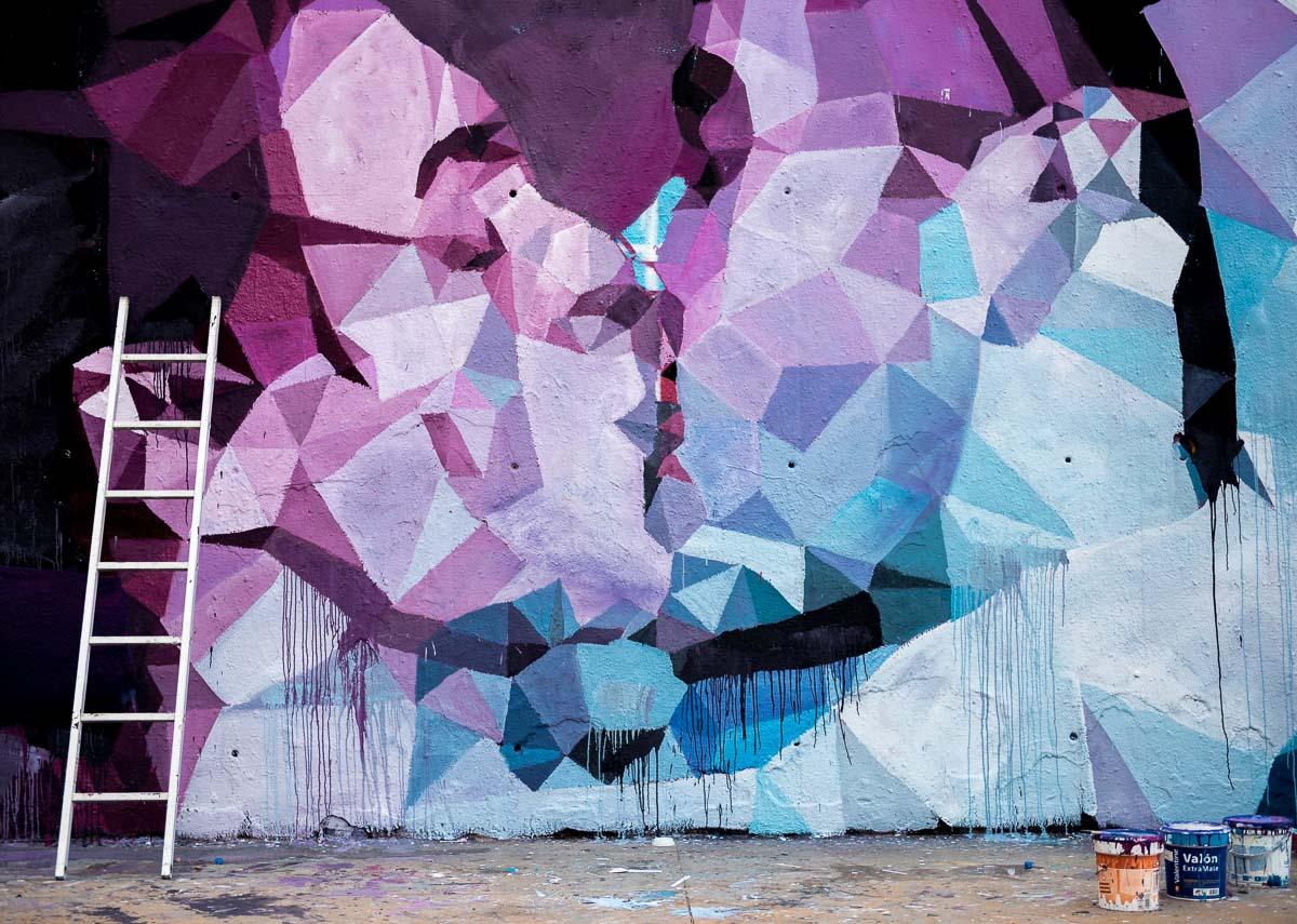 El beso. The kiss. Graffiti. Streetart.