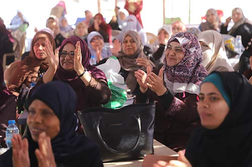 Women attend a recreation day at Al-Gouna Resort.