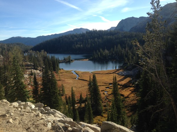 Moccasin Lake from Glacier Pass