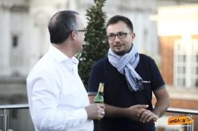 Gregory Hayman (left) and speaker Kaspar Szymanski (right)