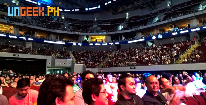 Almost packed arena! Imagine what this will be tomorrow for the finals!