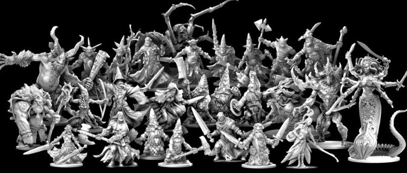 MINIS! GLORIOUS MINIS! (And is that Medusa just 3x the height of the dwarf? Excuse me but Bloodmoon Nightrunner would like to have a word with you.)