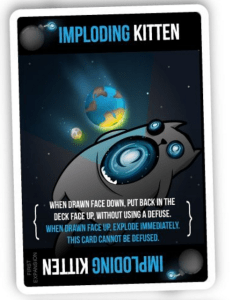 Imploding Kitten Card
