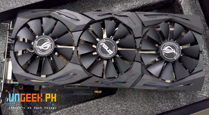 The Asus RX 480, fresh out of the box
