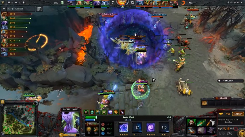 A 3 man Chronosphere by Moon on TNC! (Image courtesy of Dota Digest Youtube Channel)