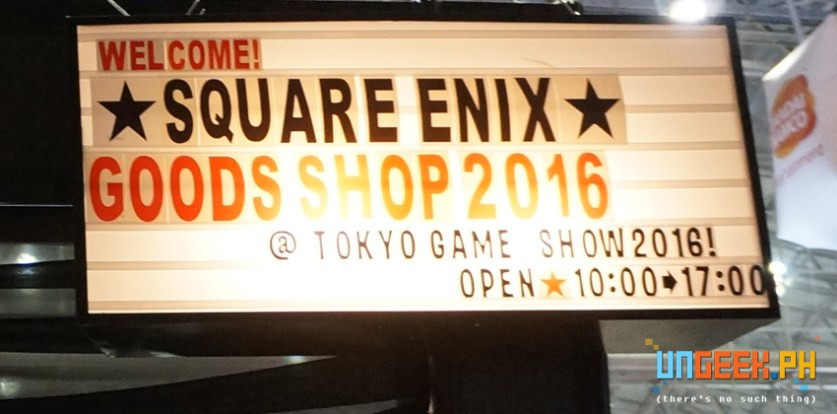Square divided their shop into two booths. This is the entrance to the main shop.