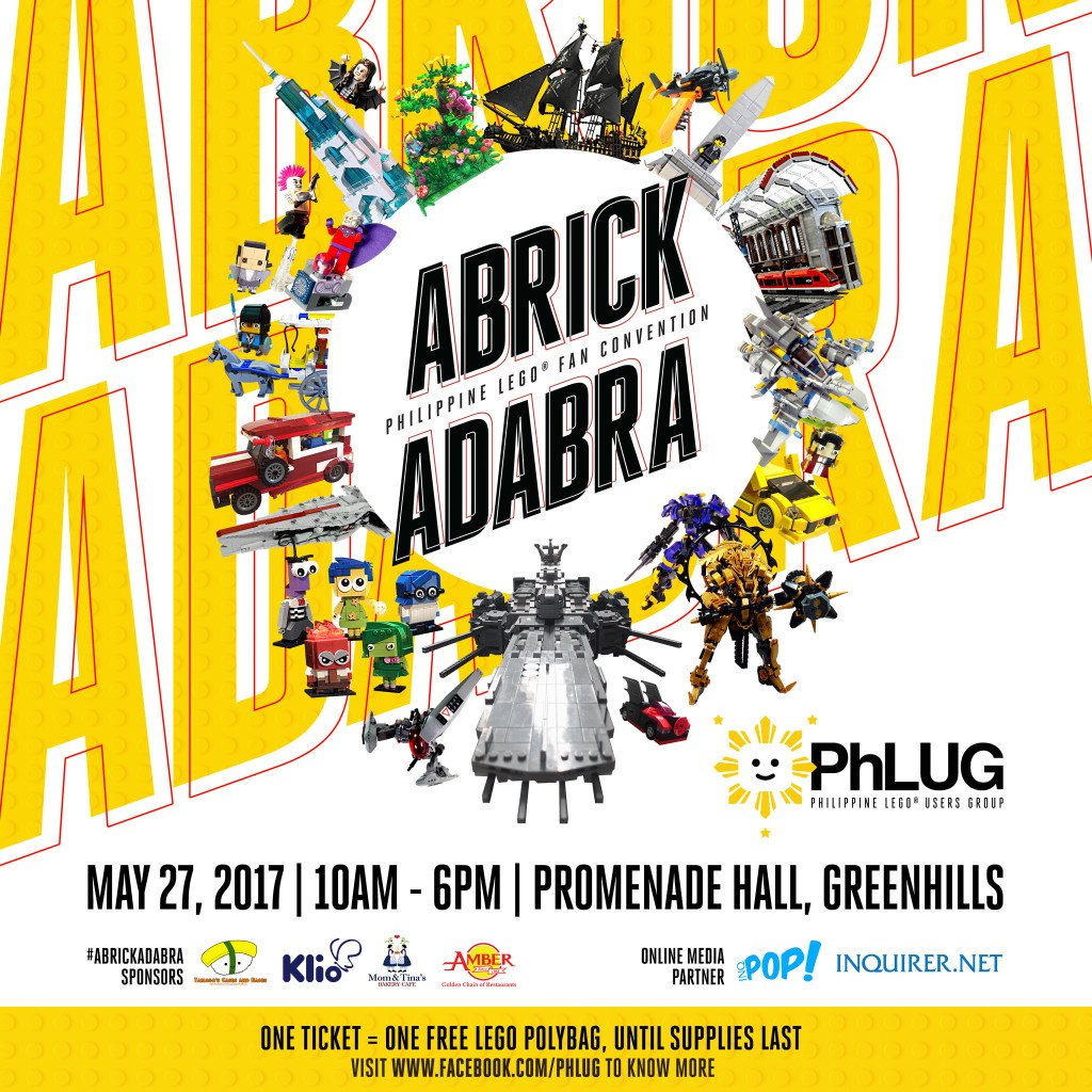 "Happening Tomorrow: ""ABRICKADABRA 2017"", the Biggest LEGO Fan Convention in the Philippines"