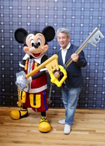 KH3 Executive Producer Shinji Hashimoto hanging out with Mickey!