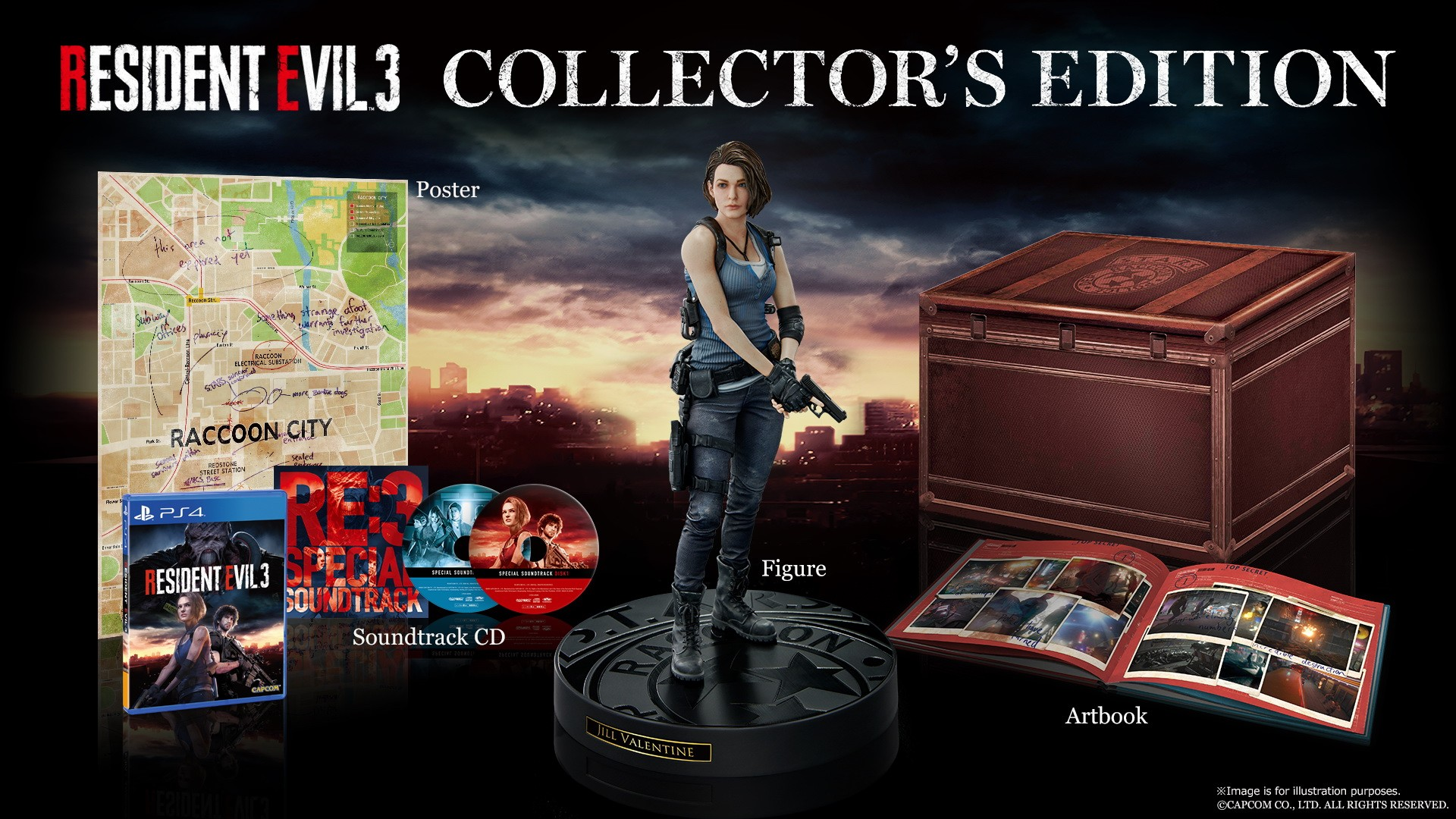 Capcom Unveils Re3 Remake Collector S Edition And Classic Costume