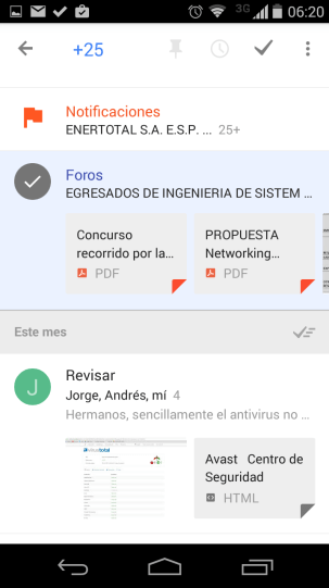 Inbox by Gmail mi experiencia de Uso