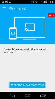 Comparte tu pantalla en la TV con la APP oficial de chromecast