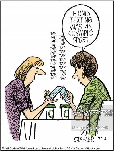 'If only texting was an Olympic sport.'
