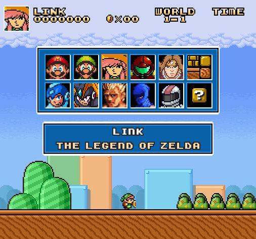 Super Mario Bros. Crossover un mix de los clásicos de Nintendo en un solo juego