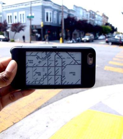 popSLATE una carcasa con pantalla de tinta liquida incluida para el iPhone 6