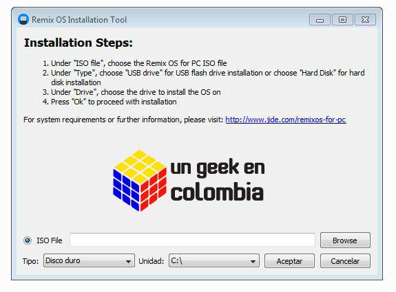 Android en su PC:problemas al instalar Remix OS « Soloelectronicos