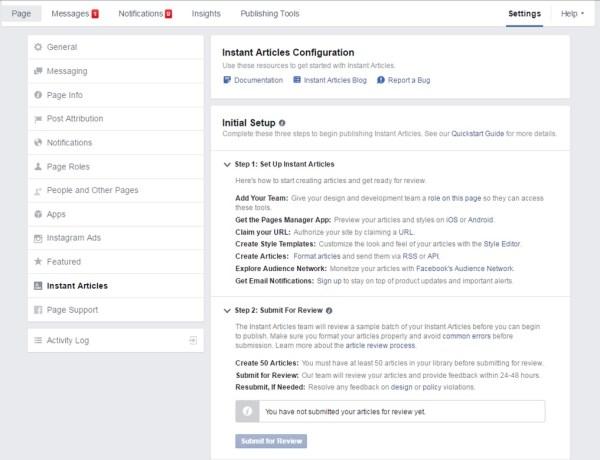 Guía: Instalar Facebook Instant articles para WordPress