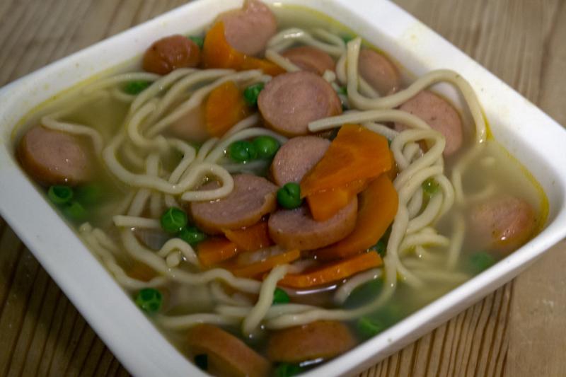 Noe enklere og raskere suppe skal godt gjøres. Også smakte det godt!
